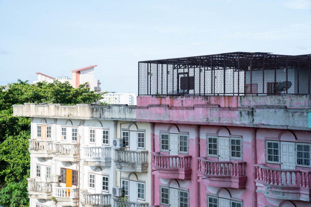 Colorful apartments, Bangkok, Thailand