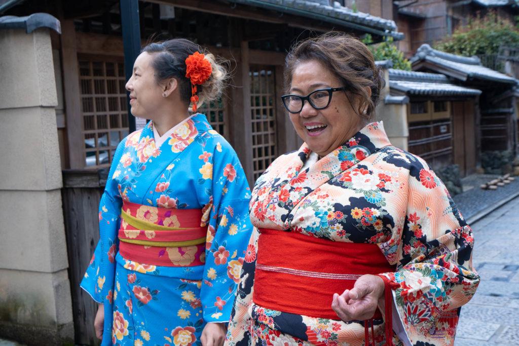 dressed in kimono, Kyoto