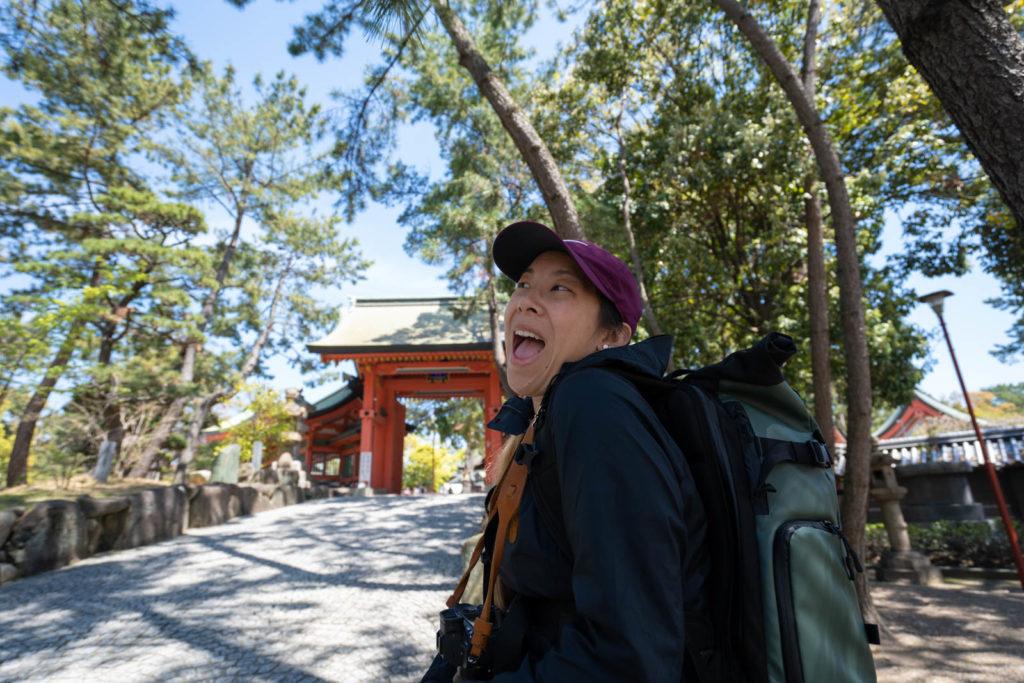 Adriennne at Sumiyoshi Taisha, Osaka, Japan