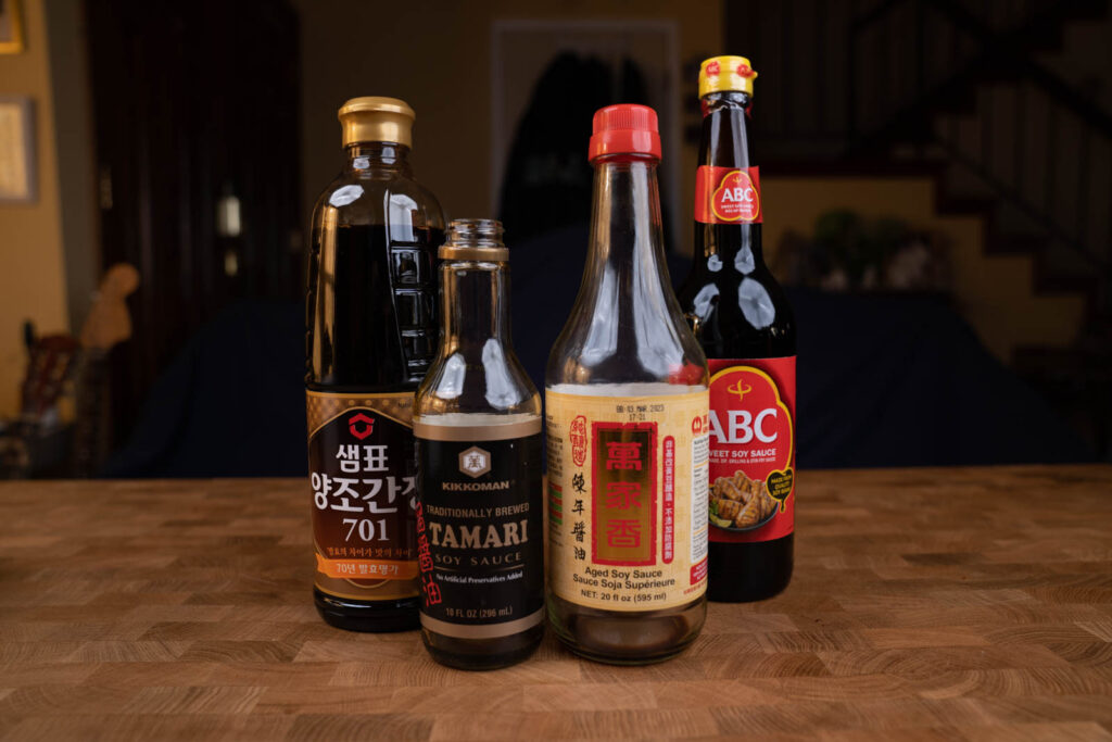 different types of soy sauce