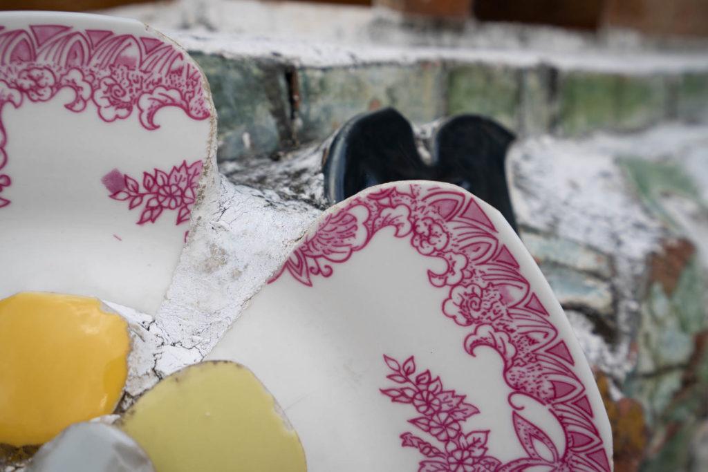 Porcelain detail, Wat Arun, Bangkok, Thailand