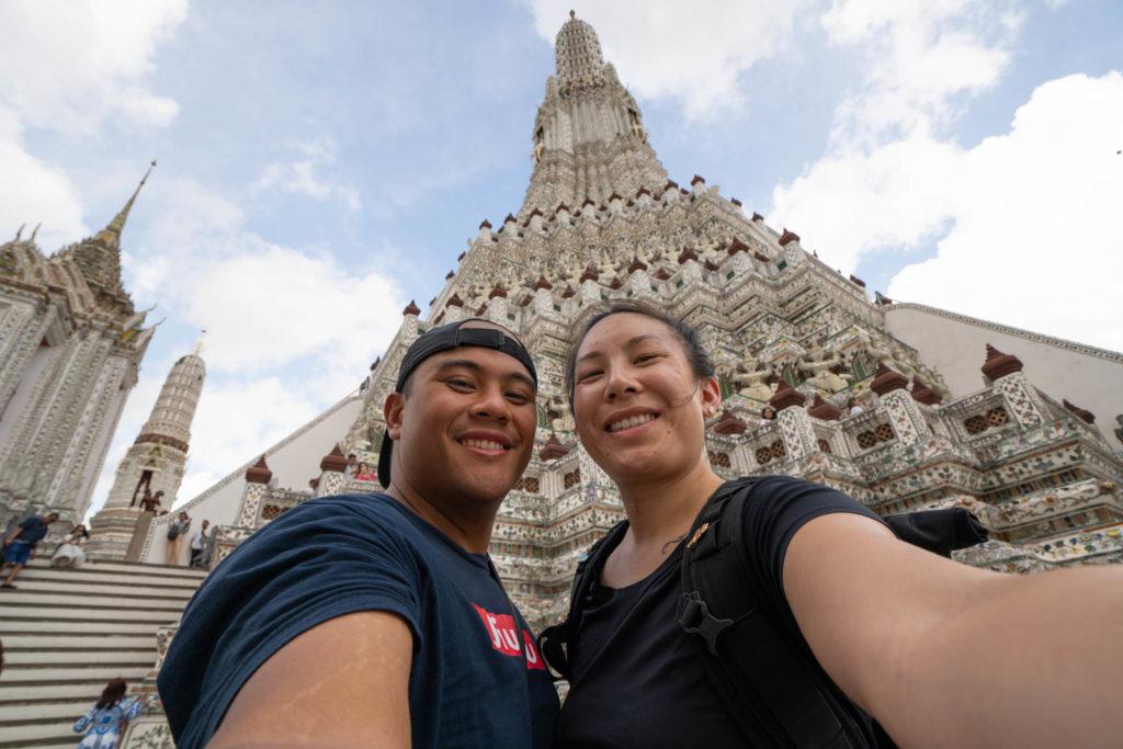 Carlienne at Wat Arun, Bangkok, Thailand