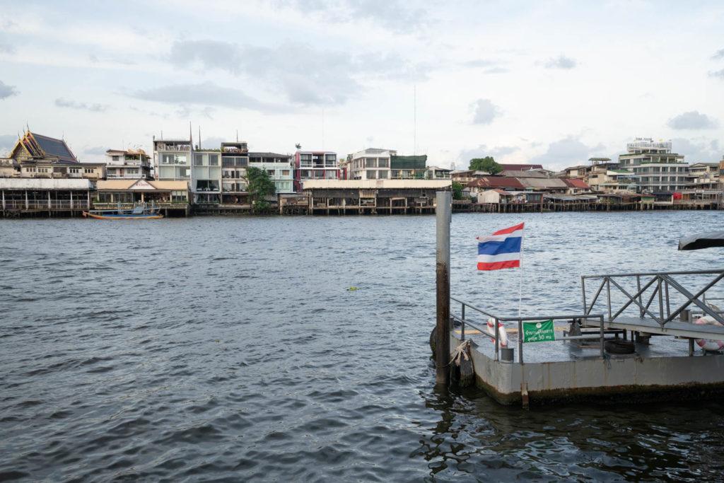 Port near Wat Arun, Bangkok, Thailand