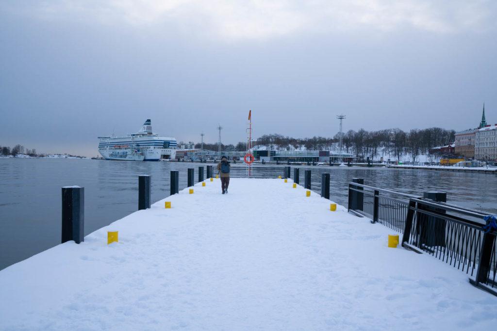 Port near the Kauppatori Ferry terminal