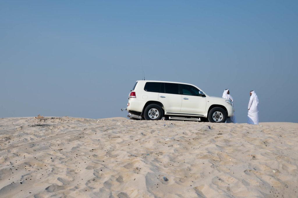 Dune bashing at the Sand dunes of Mesaieed, Qatar