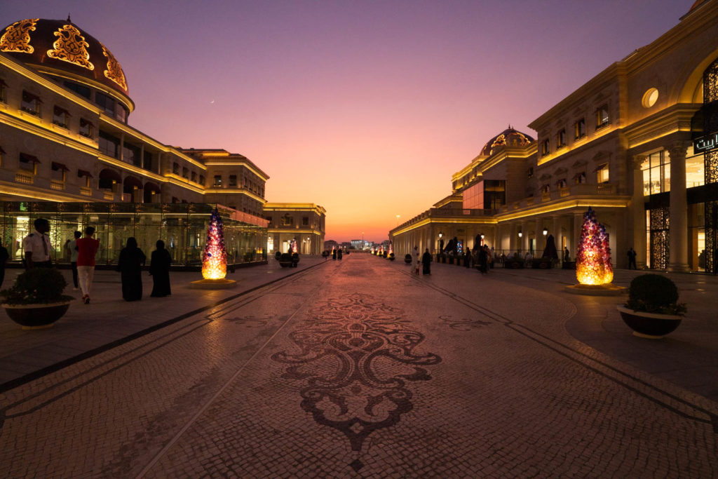 Sunset at Katara Cultural Village, Doha, Qatar