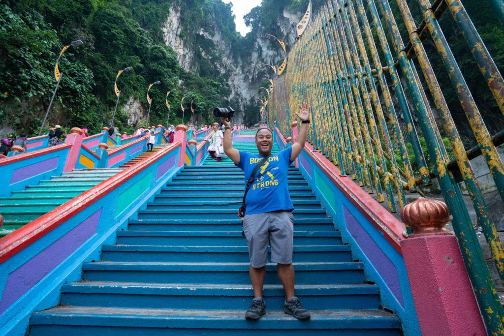 Carl at Batu Caves, Kuala Lumpur, Malaysia