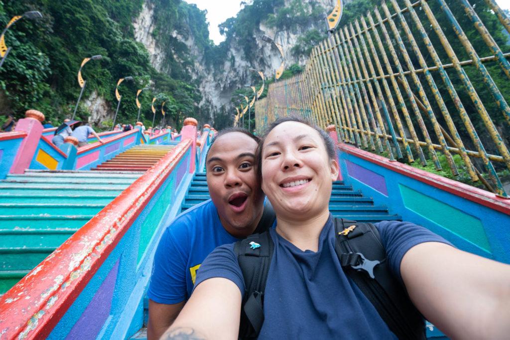 Carlienne at Batu Caves, Kuala Lumpur, Malaysia
