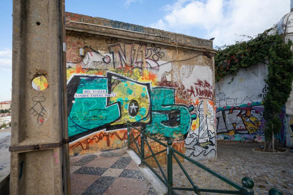Grafitti, Miradouro Sophia de Mello Breyner Andresen