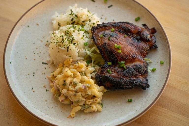 Hawaiian BBQ Chicken lunch plate