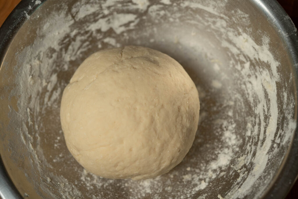Formed dough ready for resting