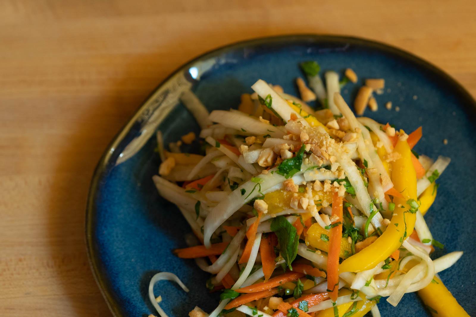 Korean Radish & Mango Salad