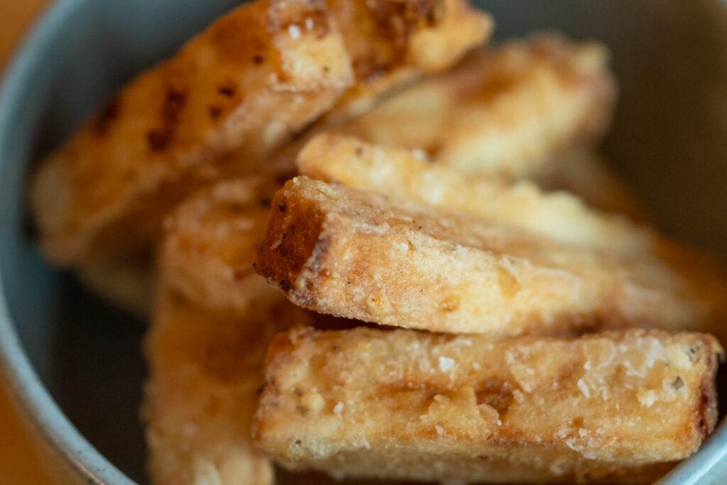 Detail: crispy nagaimo fries