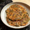 Malabar Spinach & Kimchi Korean Pancakes