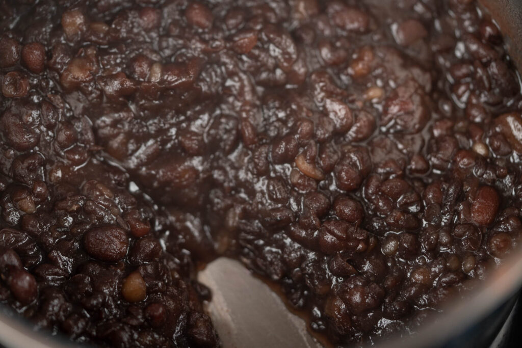 cooked red beans