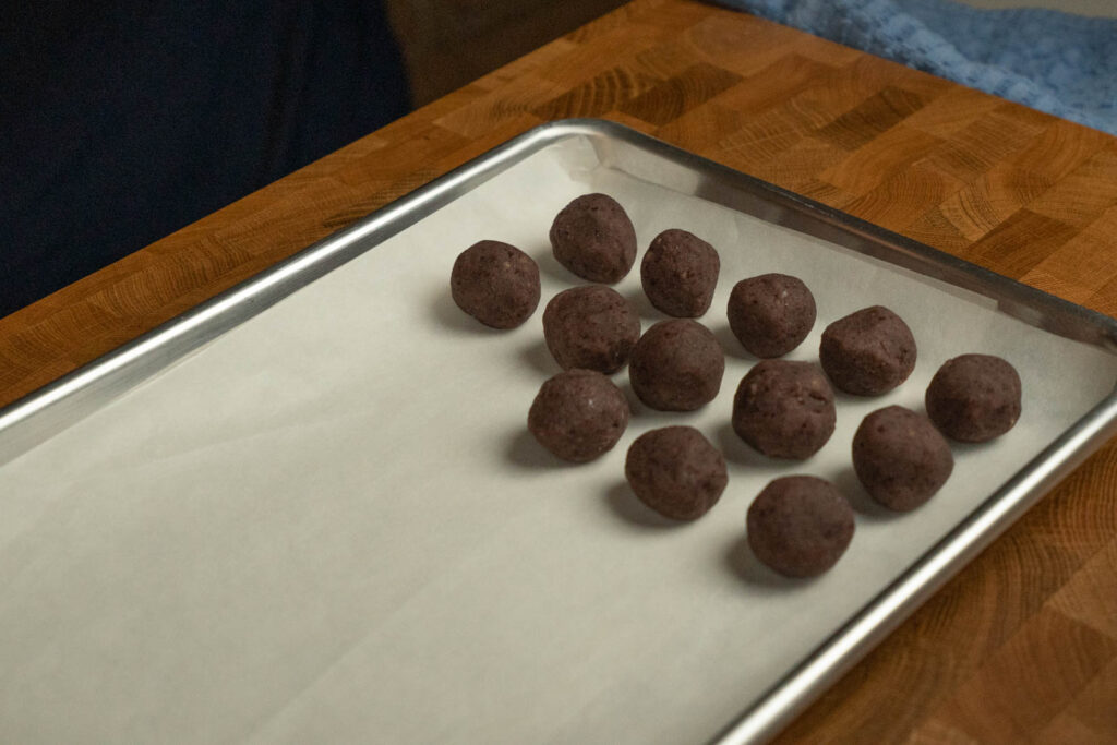 rolled red bean paste balls
