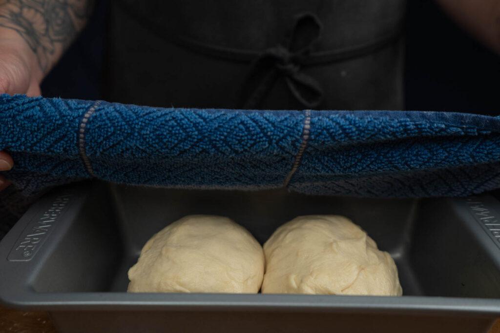 Inga Lam's milk bread - resting