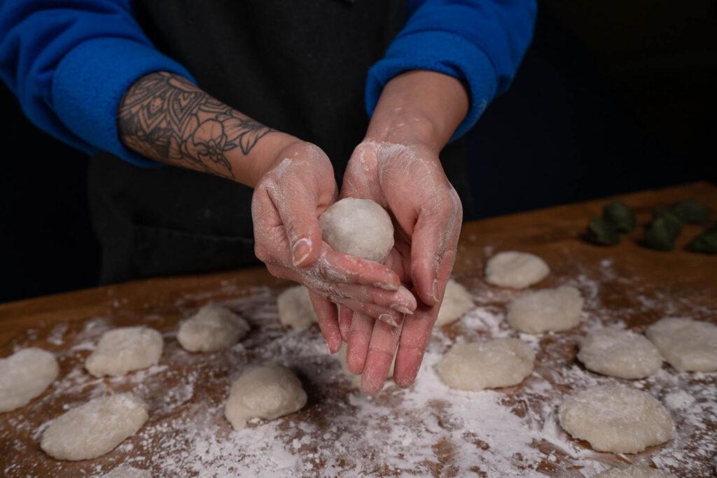 making daifuku mochi
