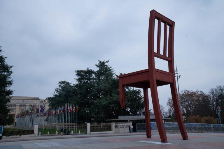 The Broken Chair, Geneva, Switzerland