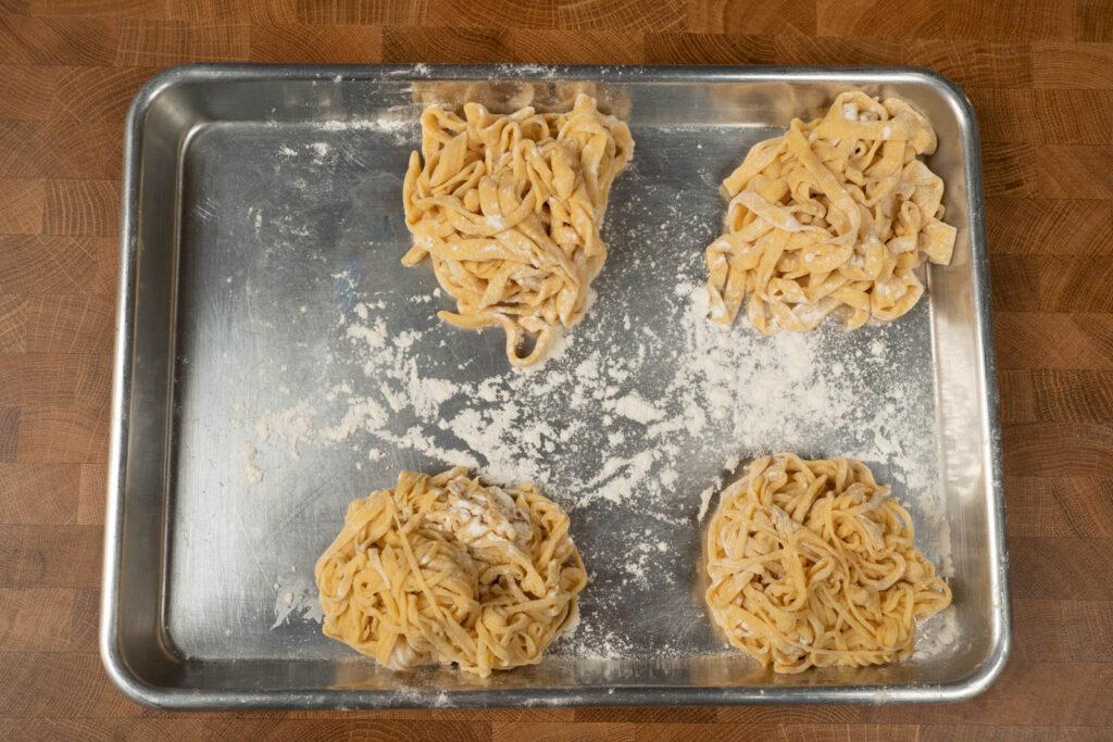 Cut pasta noodles