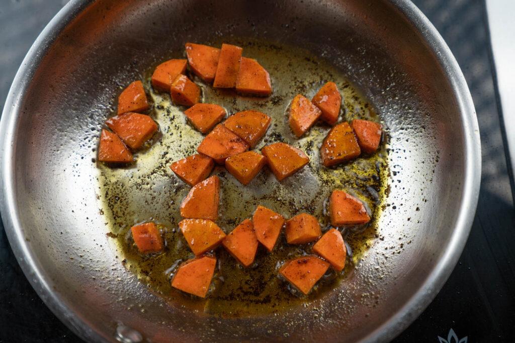 Sautéing carrots