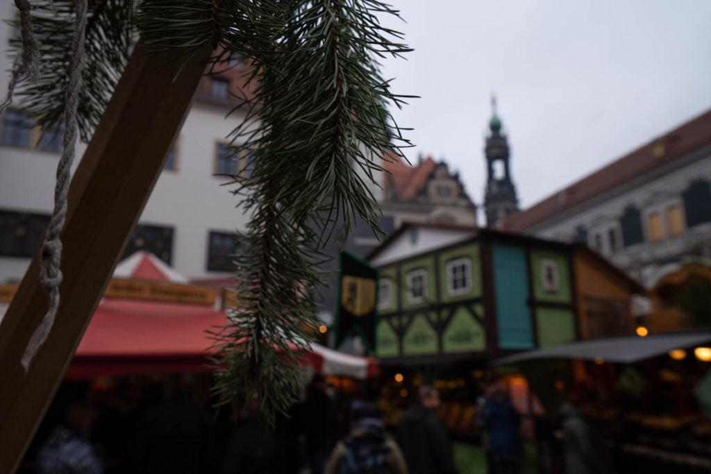 Mittelalter-Weihnacht medieval market, Dresden, Germany