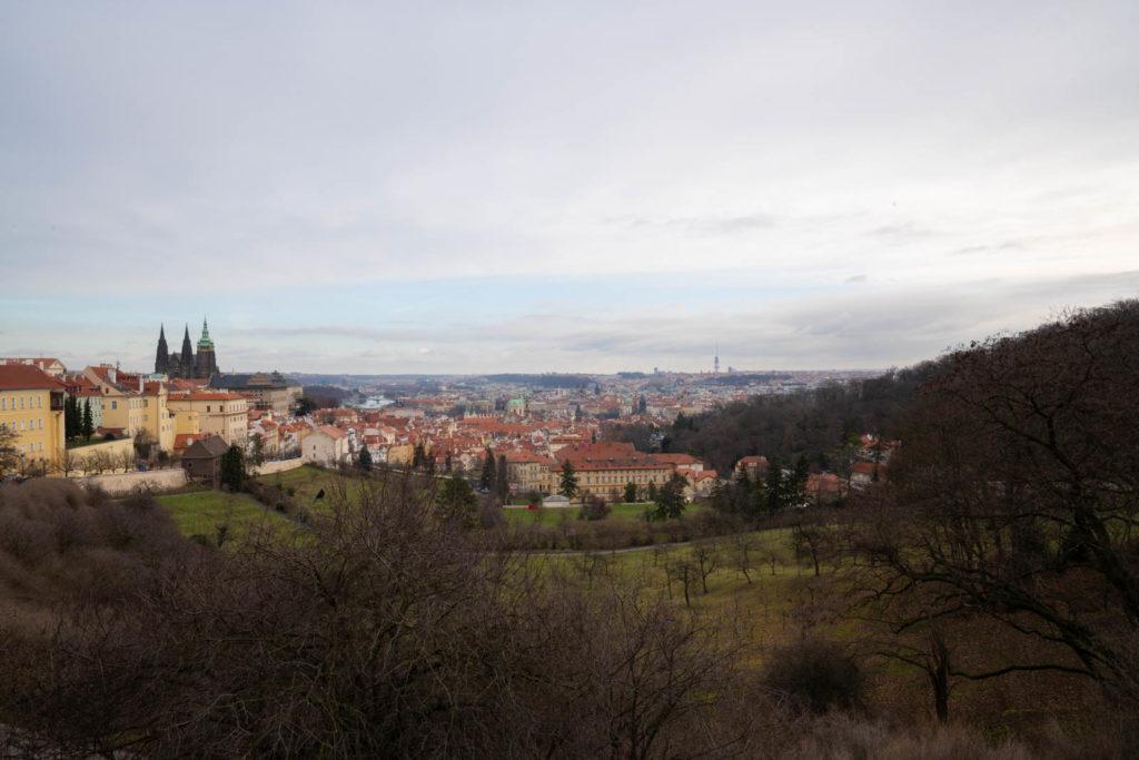 View from Strahov Garden Viewpoint (Vyhlídka Strahovské zahrady), Petrin Hill, Prague