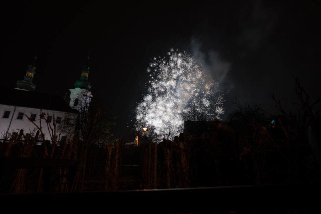 New Year's Eve Fireworks, Petrin Hill (Vrch Petřín), Prague