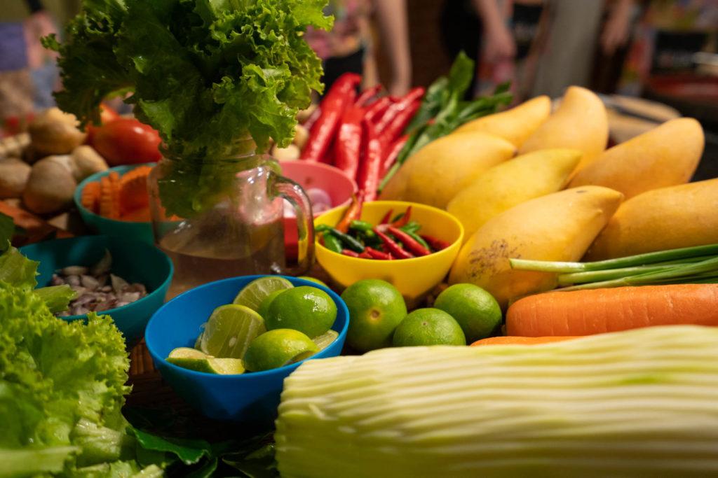 Common ingredients, Silom Thai Cooking School, Bangkok, Thailand