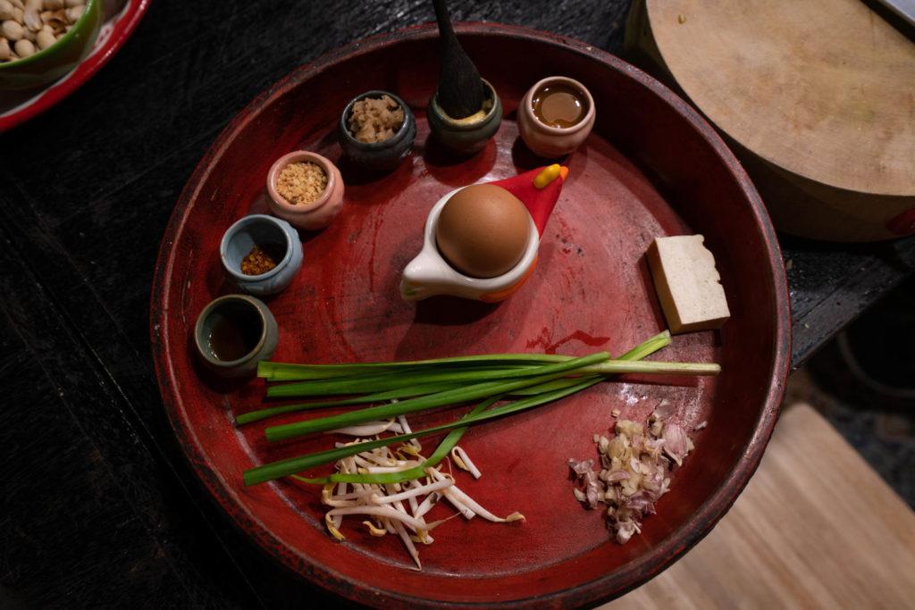 Pad Thai ingredients, Silom Thai Cooking School, Bangkok, Thailand