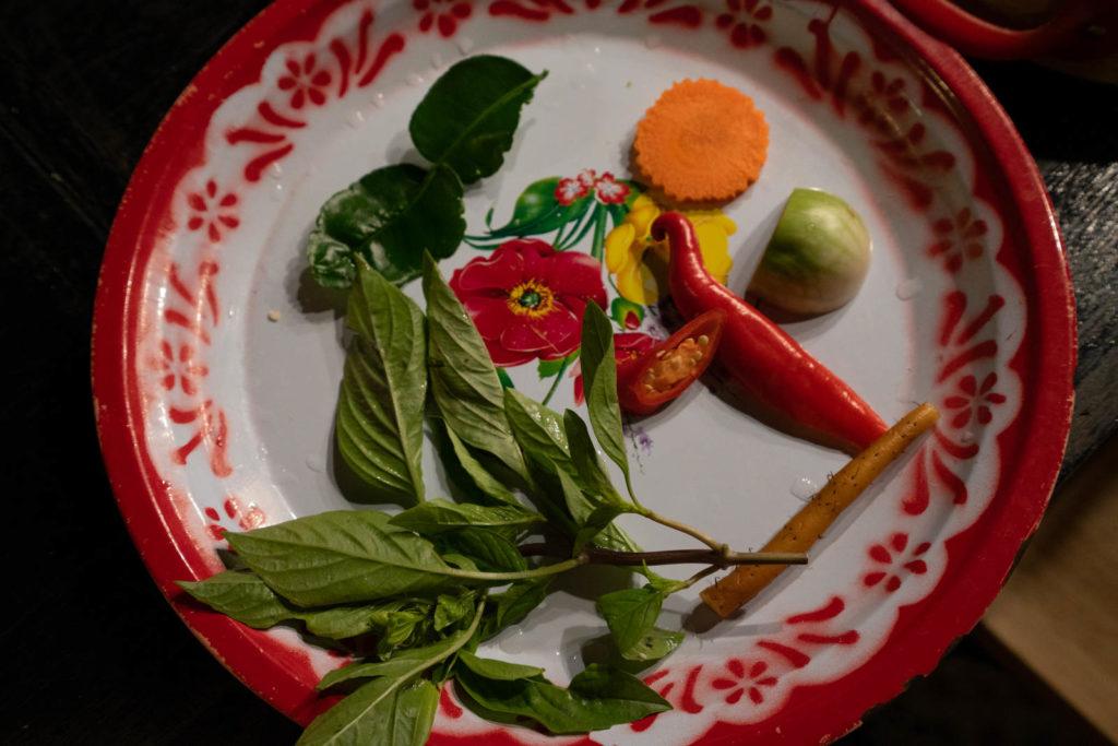 Som Tam ingredients, Silom Thai Cooking School, Bangkok, Thailand