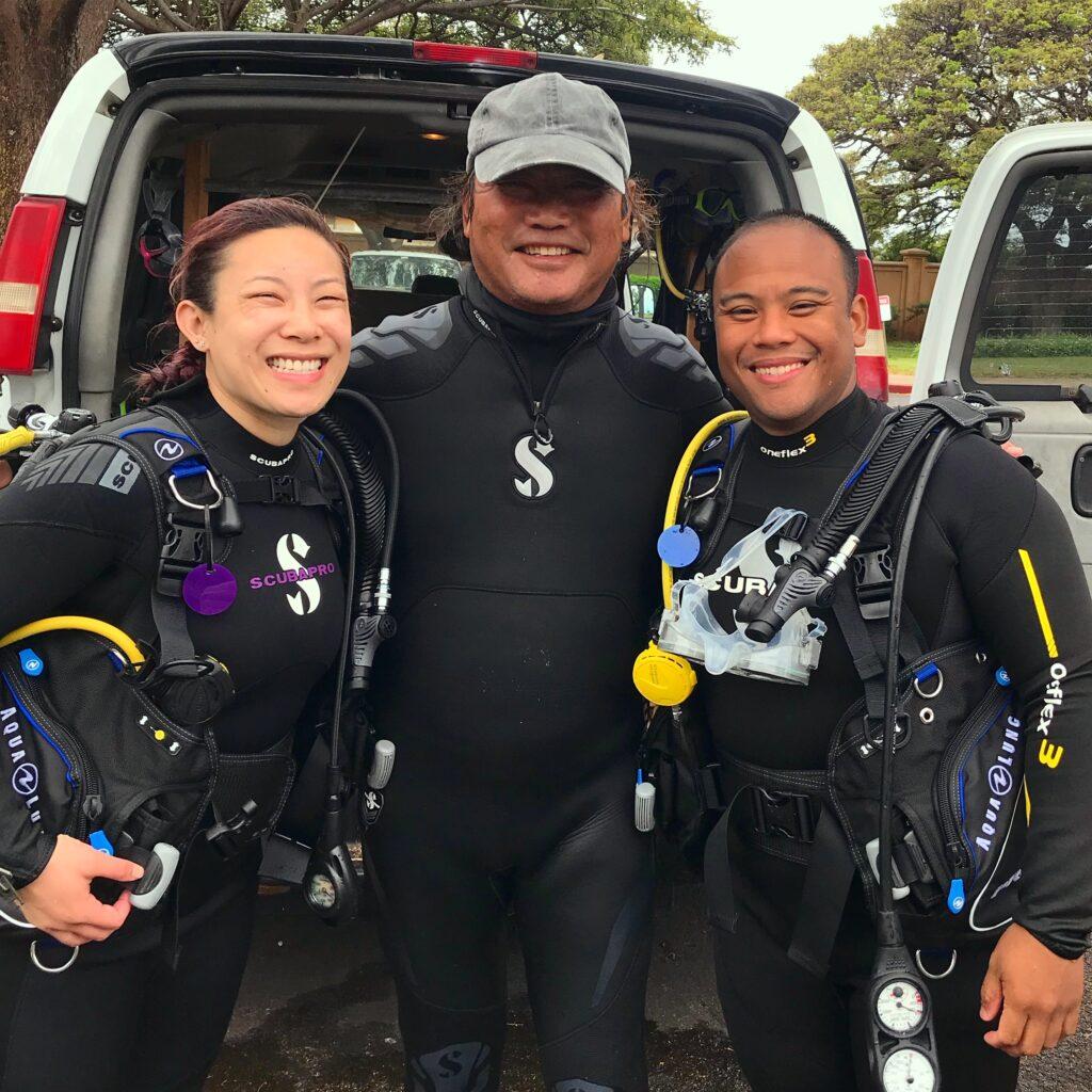 Carl & Adrienne in scuba gear