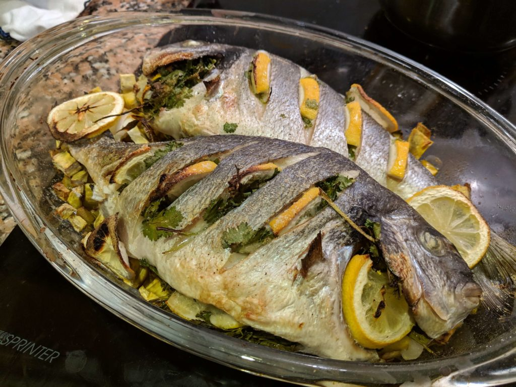 """Carlienne cooked """"baked Dourada"""""""