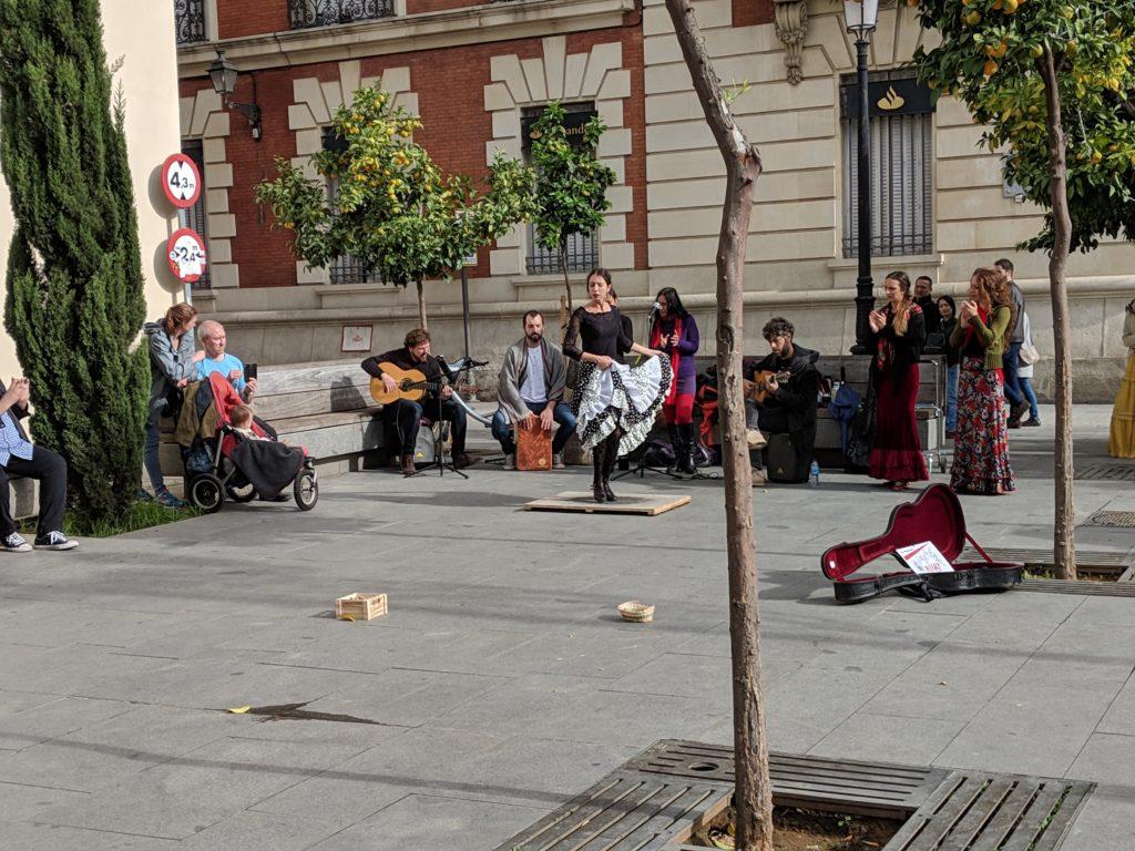 Flamenco street performance, Seville, Spain