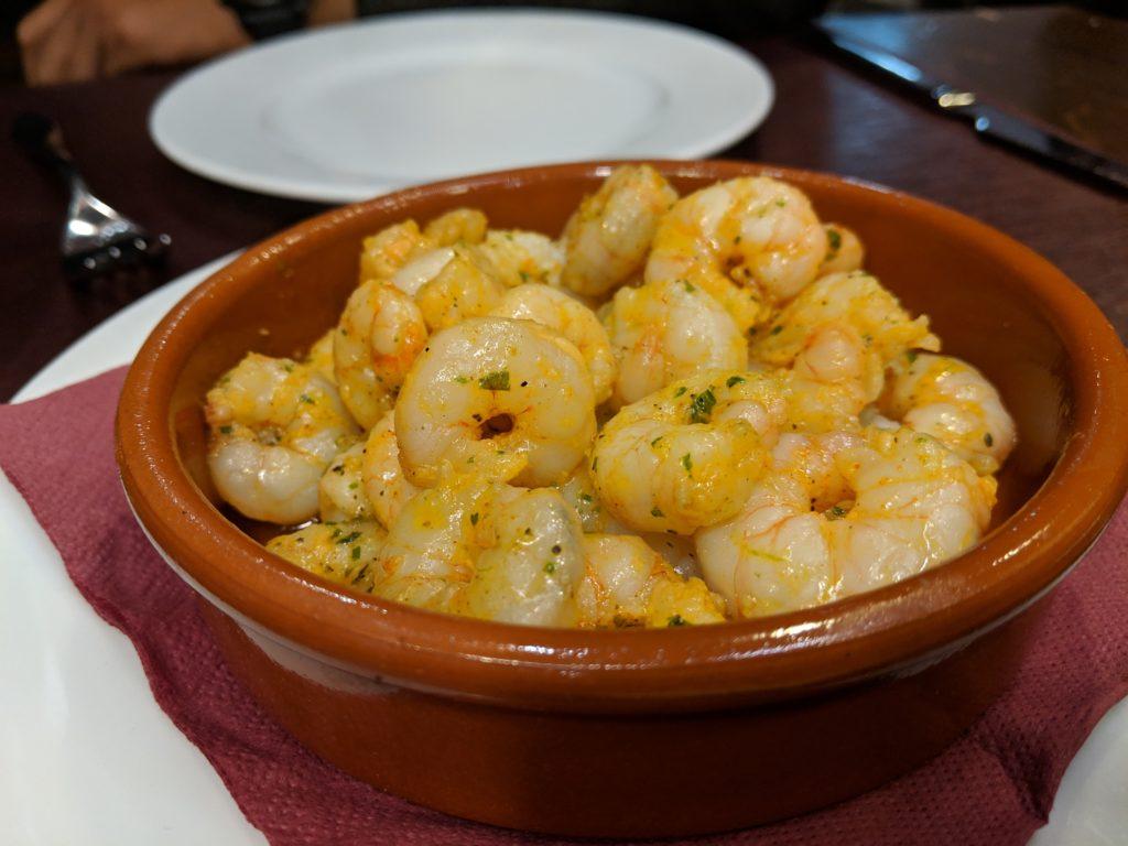 Gamba El ajillo (garlic shrimp), Los Bellota