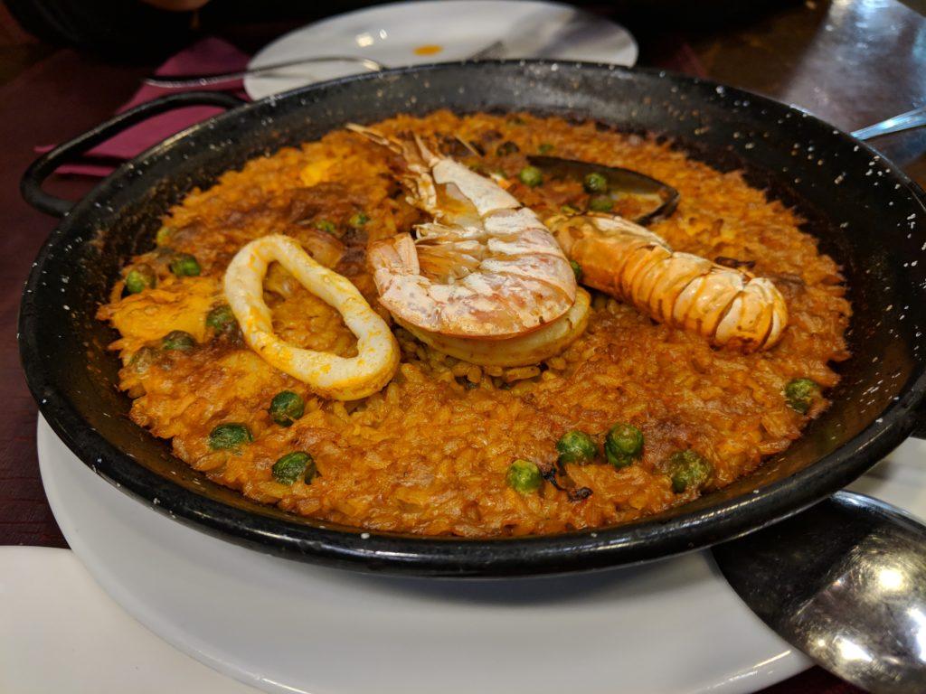 seafood paella, Los Bellota