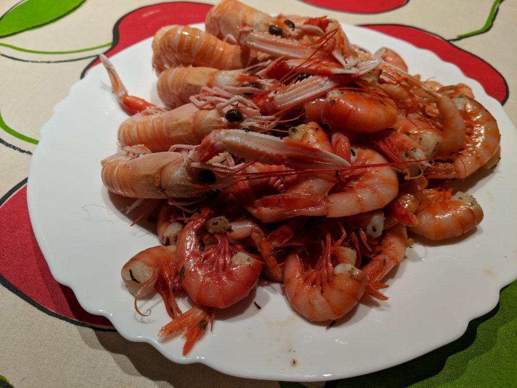 Carlienne Cooks: shrimp and langoustine