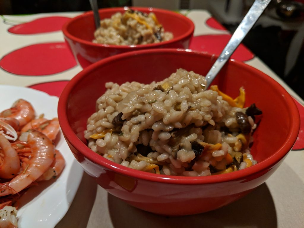 Carlienne Cooks: winter chanterelle risotto