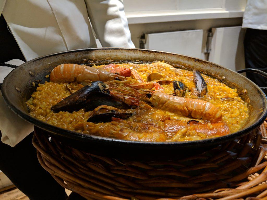 Seafood Paella, Restaurant Elche