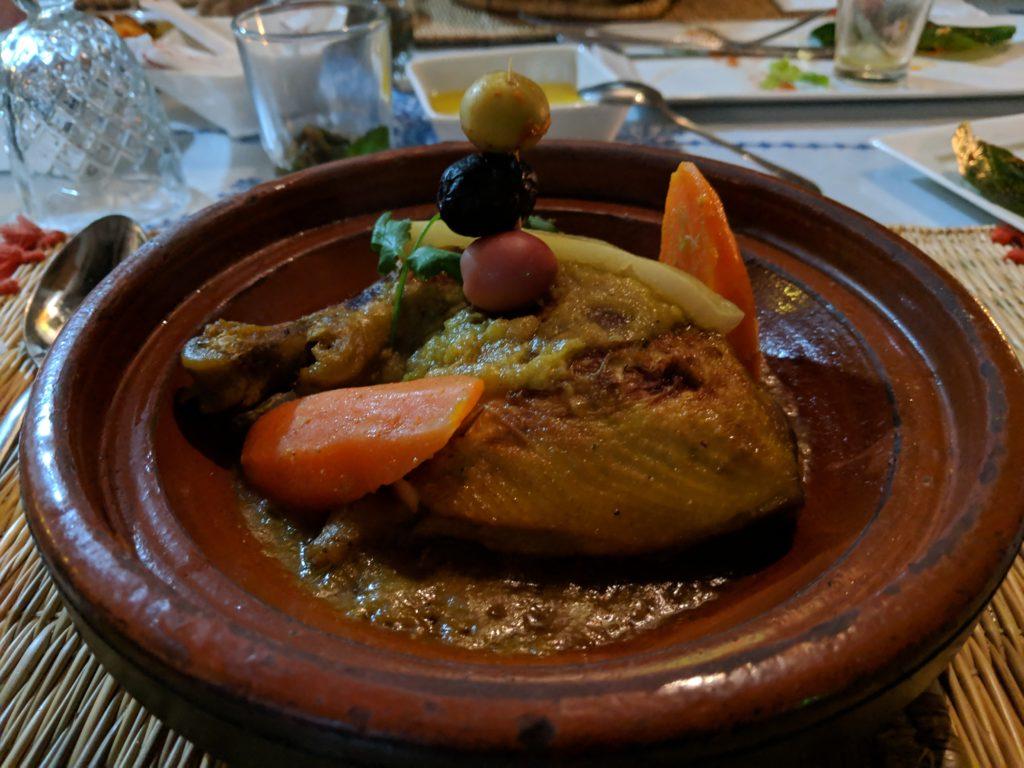 Dinner meal, Riad Al Pacha, Fes, Morocco