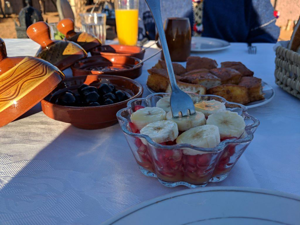 Breakfast, Ali & Sara's Desert Palace, Merzouga, Morocco