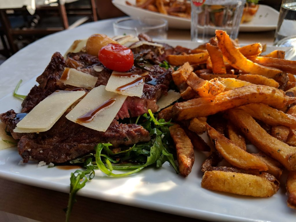tagliata steak, Le Sud