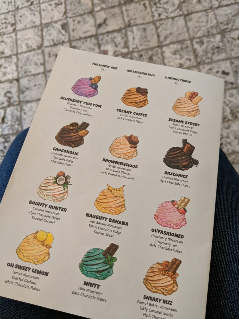 Menu, NiceCream, Copenhagen