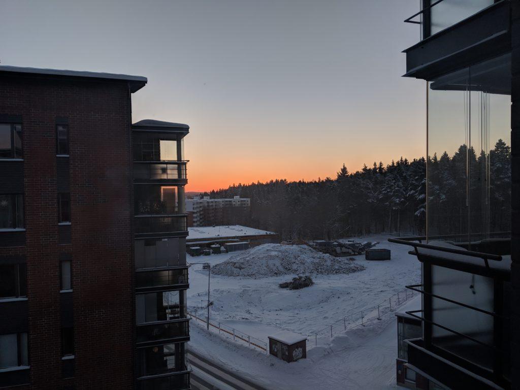 Winter sunrise, Tampere, Finland