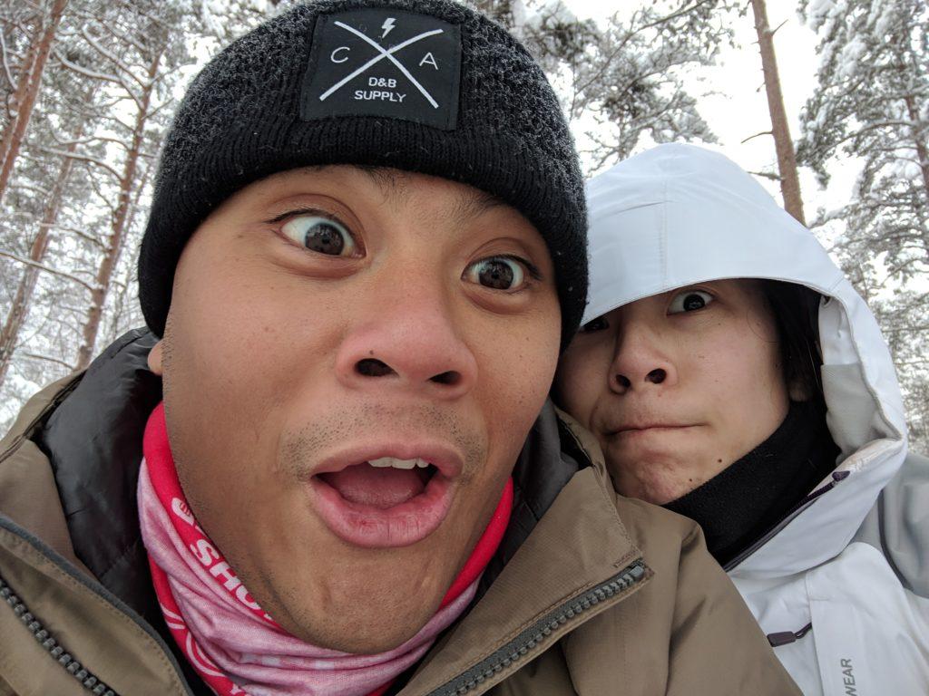 Winter hiking in Seitseminen National Park