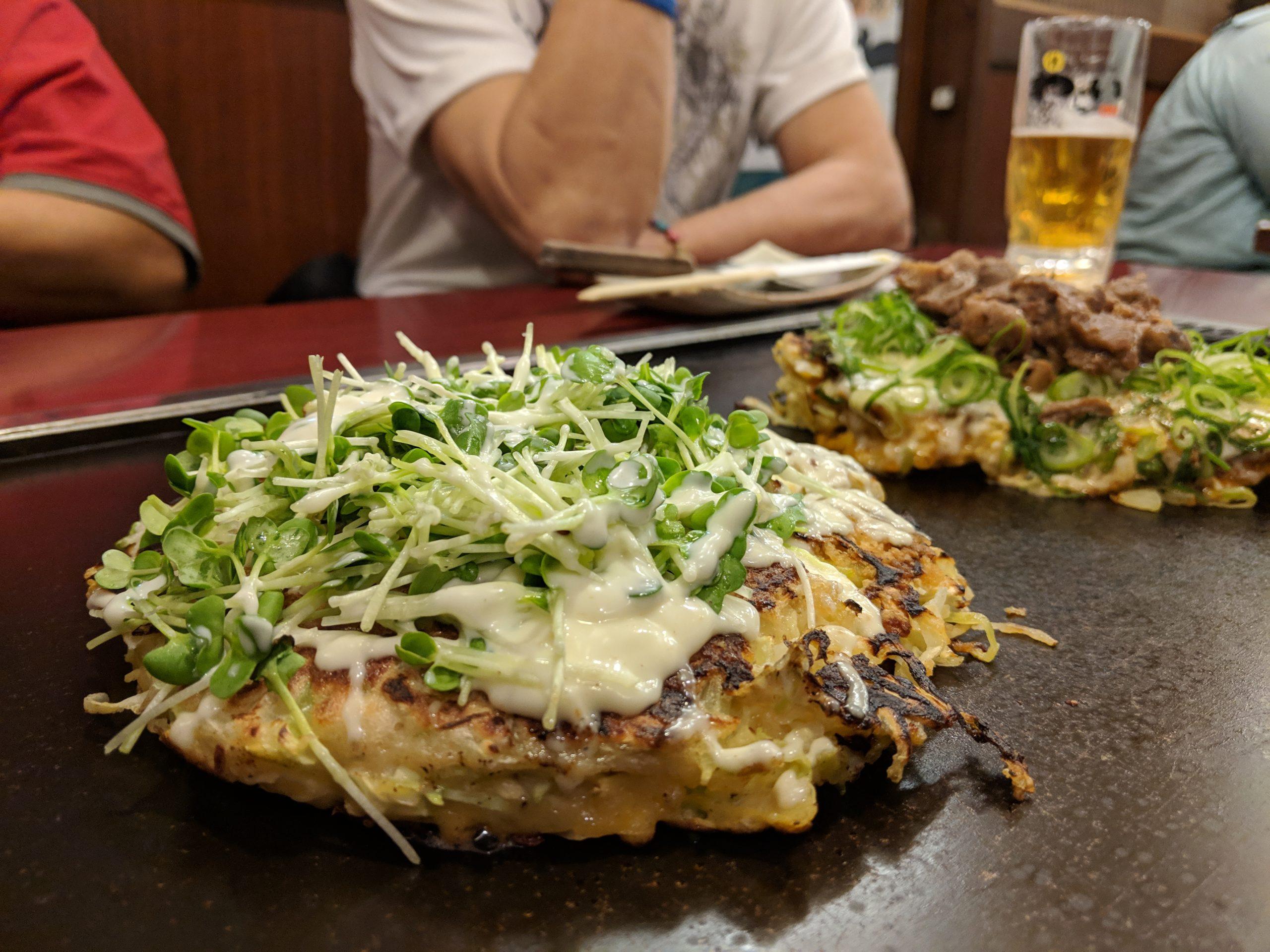 okonomiyaki, Nishiki Warai, Osaka