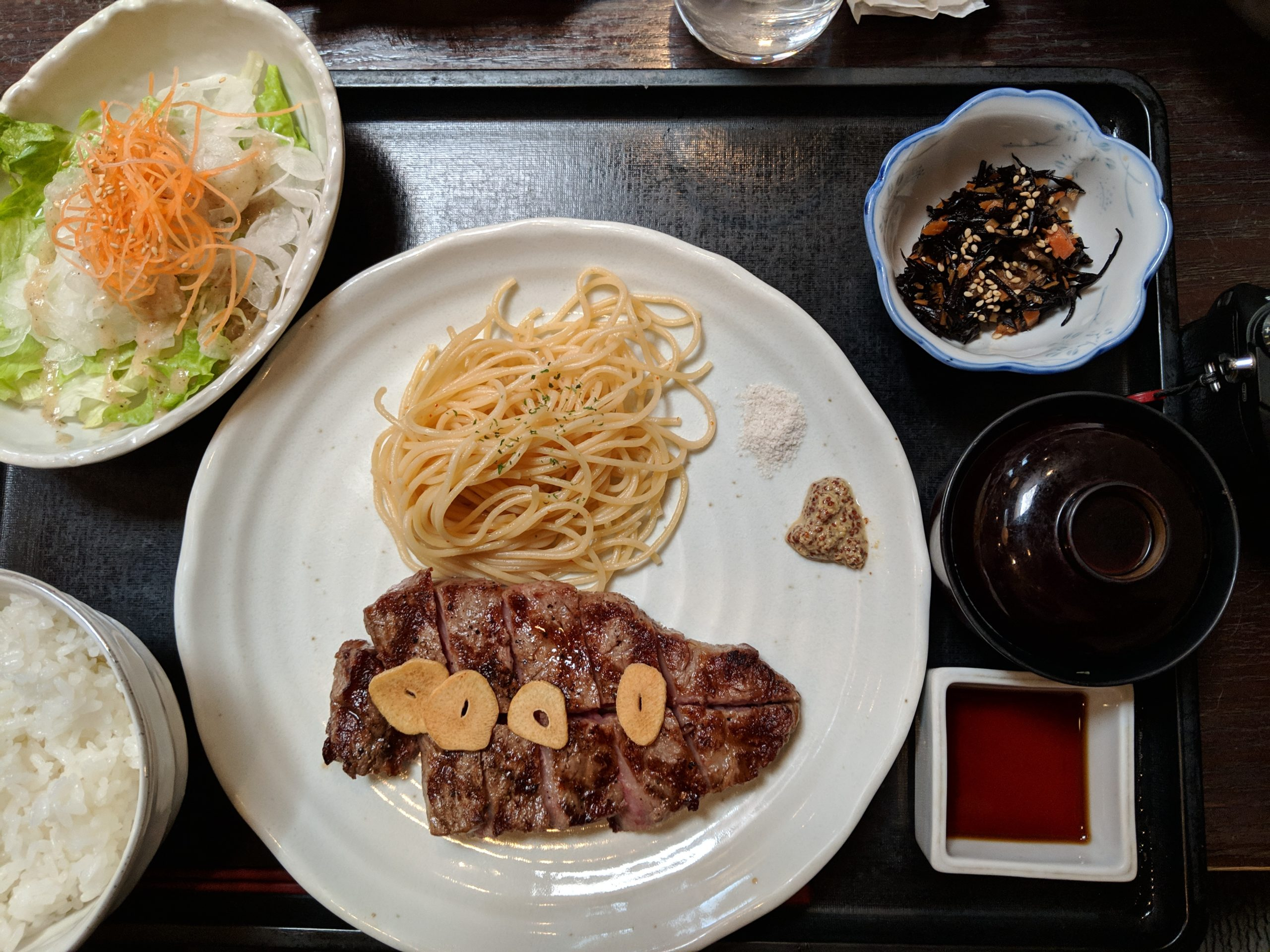 sirloin steak medium rare, Hafuu, Kyoto