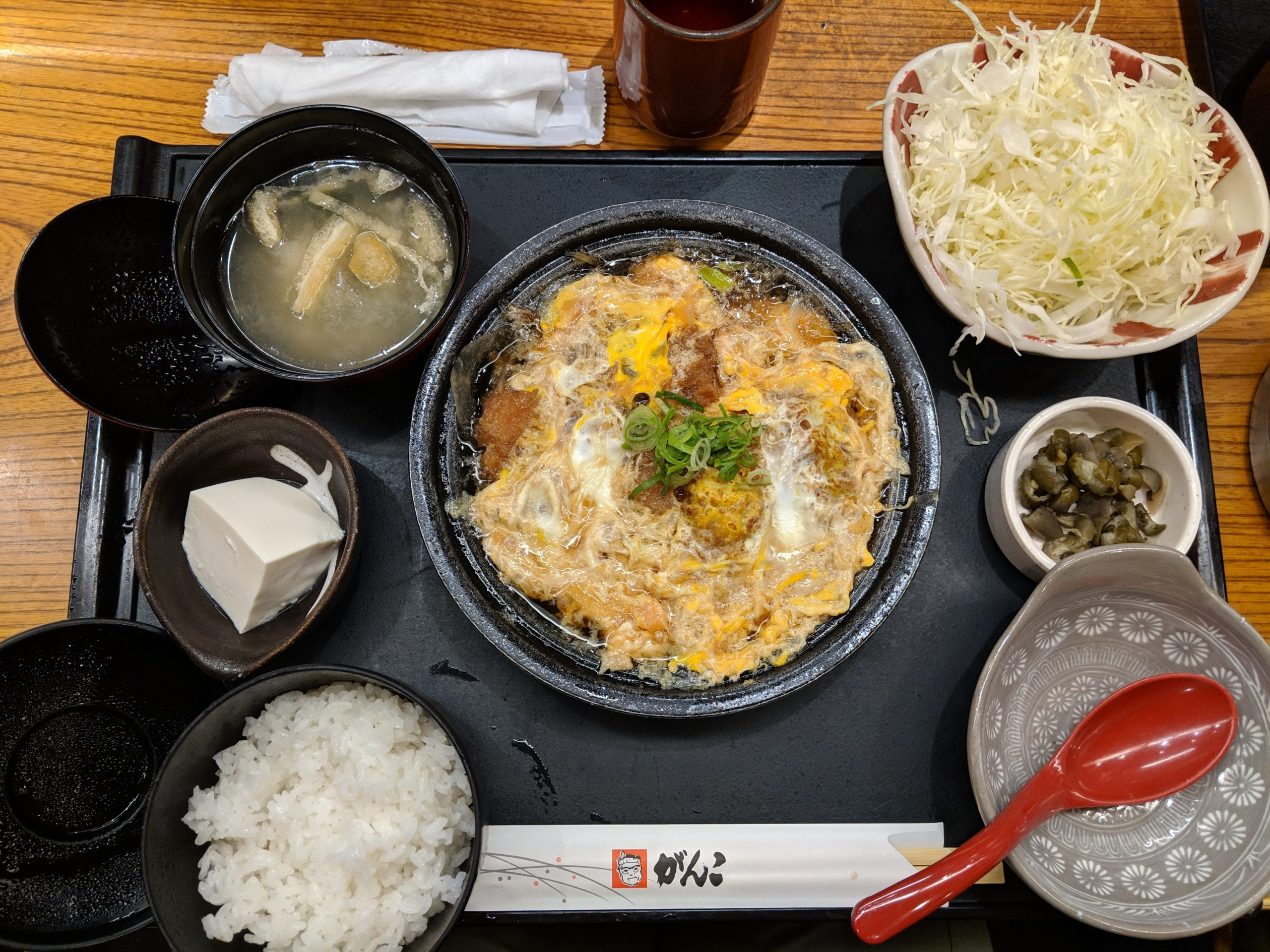 egg tonkatsu, Tonkatsu Ganko Nara