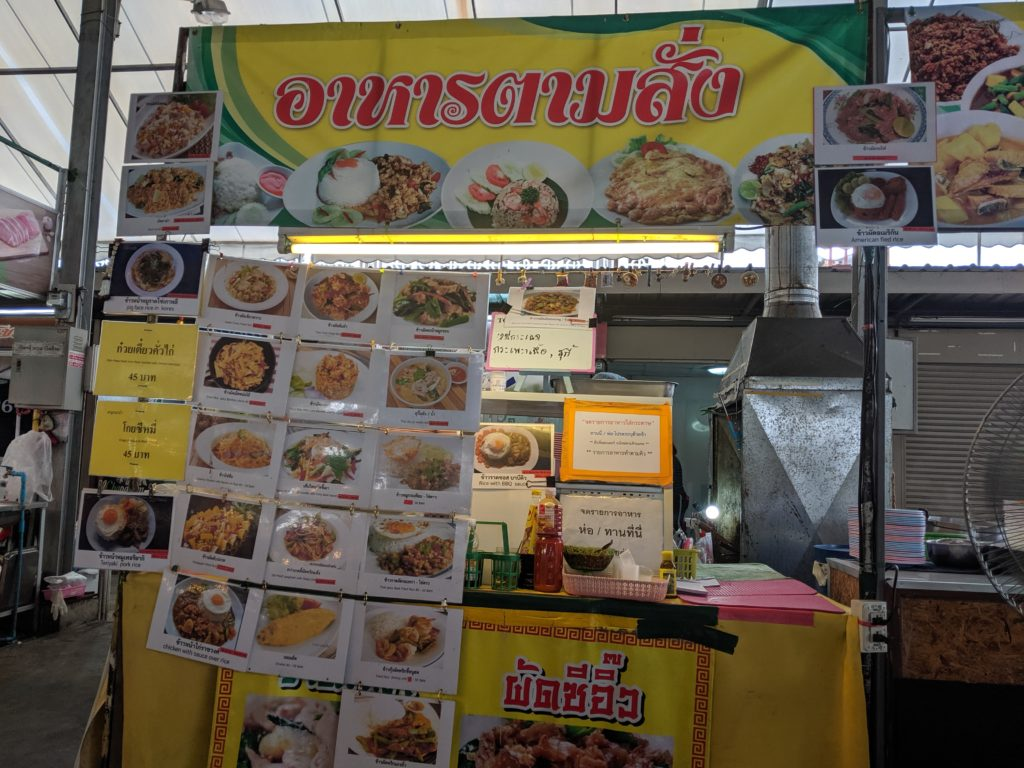 Food stall at Seni Market. Bangkok, Thailand