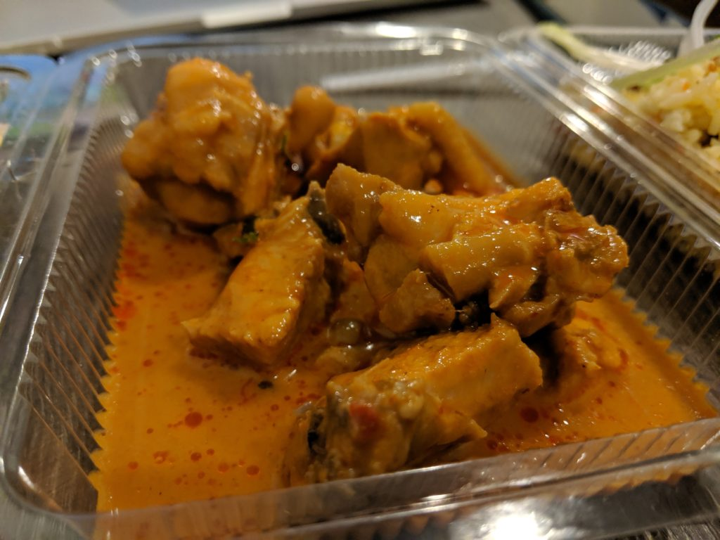 Red curry chicken, Grab takeaway, Bangkok, Thailand
